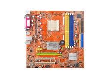 материнская плата компьютера цвета сини близкая вверх Стоковая Фотография RF