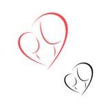 Материнство и детство логотипа Стоковое Изображение RF