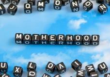Материнство слова Стоковые Фотографии RF