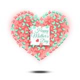 мати дня счастливые смешное сердце подогнало Стоковое Изображение RF