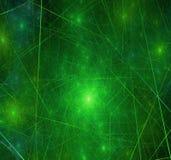 матрица галактики зеленая Стоковая Фотография
