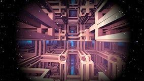 Матрица космоса, виртуальная реальность Стоковое Изображение RF