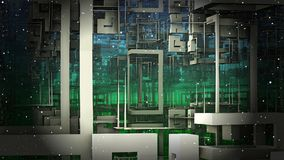Матрица космоса, виртуальная реальность Стоковое фото RF