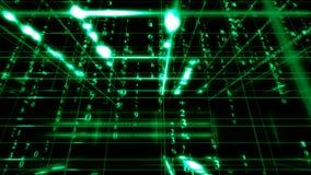 Матрица цифровых данных иллюстрация вектора