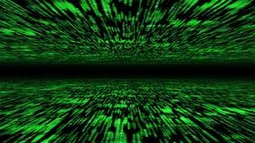 Матрица 3d - летание через подпитанное виртуальное пространство Стоковое фото RF