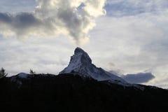 Маттерхорн в Zermatt, Швейцарии Стоковые Изображения