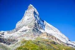 Маттерхорн, швейцарец Альпы, Швейцария Стоковая Фотография