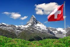 Маттерхорн - швейцарское альп Стоковое Изображение RF