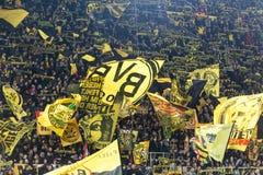 Матч лиги Европы UEFA между Borussia Дортмундом против PAOK Стоковое Изображение RF