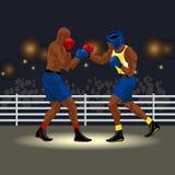 Матч по боксу в кольце Стоковые Фото