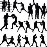Матч по боксу Иллюстрация штока