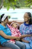 мать бабушки младенца Стоковое Изображение