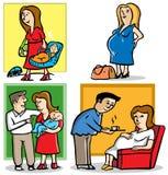 Мать в беременной Стоковые Изображения RF