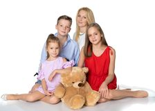 мать детей счастливая Стоковое Фото