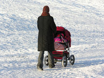 мать детской дорожной коляски Стоковое Фото