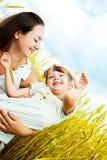 мать дочи счастливая Стоковые Изображения