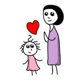 мать дочи Стоковые Изображения