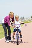 мать дочи bike Стоковое Фото