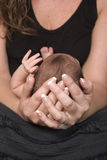 Мать держа newborn младенца стоковые изображения rf