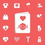Мать \ 'значок карточки дня s Детальный набор значков дня матери Наградной графический дизайн Один из значков собрания для вебсай бесплатная иллюстрация