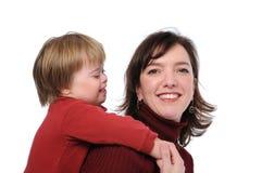 мать играя сынка Стоковые Фото