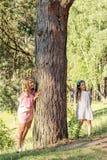 Мать и дочь в парке лета Стоковая Фотография RF