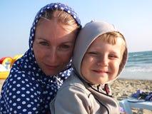 Мать и ее сын Стоковое Фото