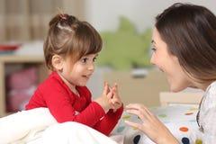 Мать и малыш играя совместно Стоковая Фотография RF