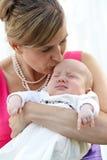 Мать и младенец Стоковое Изображение