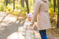 Мать и дочь играя совместно в парке осени Стоковые Фото