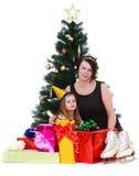 Мать и дочь фото Стоковое Изображение RF