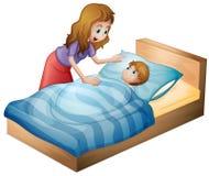 Мать и сынок бесплатная иллюстрация