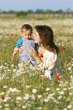 Мать и сынок стоковые изображения