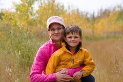 Мать и сынок Стоковая Фотография