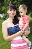 Мать и сын семьи стоковое фото