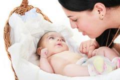 мать младенца любящая Стоковые Фотографии RF