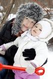 мать младенца милая маленькая Стоковая Фотография RF