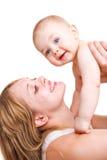 мать младенца счастливая Стоковое Изображение RF