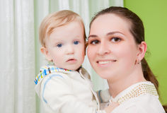 мать младенца счастливая Стоковое фото RF