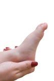 мать ноги руки младенца Стоковые Фотографии RF