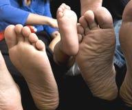 мать ног отца семьи младенца Стоковое Изображение
