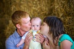 мать, отец и дочь Стоковые Фото