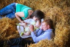 Мать, отец и дочь Стоковое Изображение