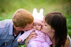мать, отец и дочь Стоковые Фотографии RF