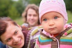 мать отца младенца напольная Стоковое Фото