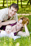 мать отца ребенка маленькая Стоковое Изображение RF