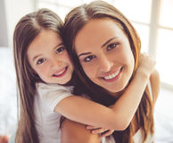 мать дочи домашняя Стоковое фото RF