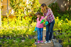 мать дочи садовничая совместно Стоковые Изображения RF