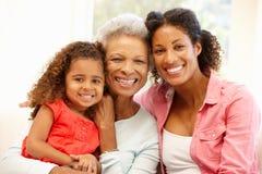 Мать, дочь и внучка Стоковое фото RF