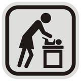 Мать переупаковывает младенца, значка вектора стоковые фото